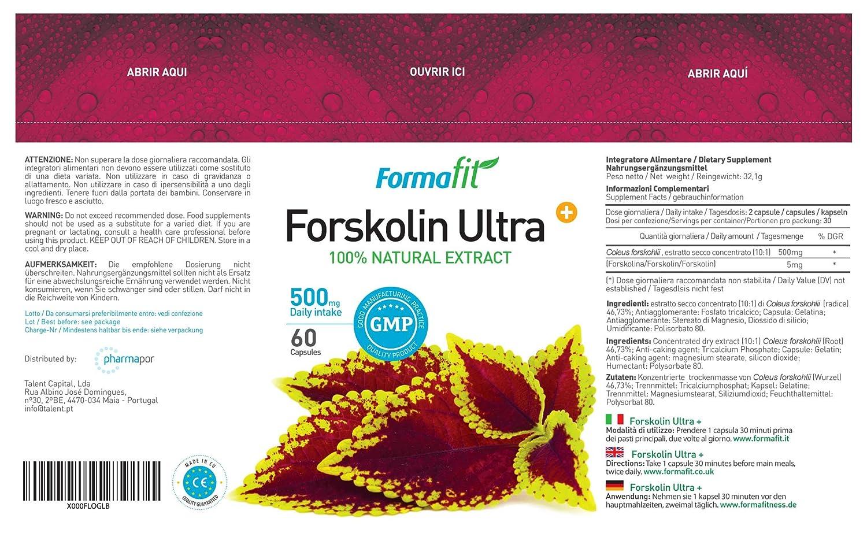 Forskolin Ultra+ 500mg - 2 Envases - 120 Cápsulas
