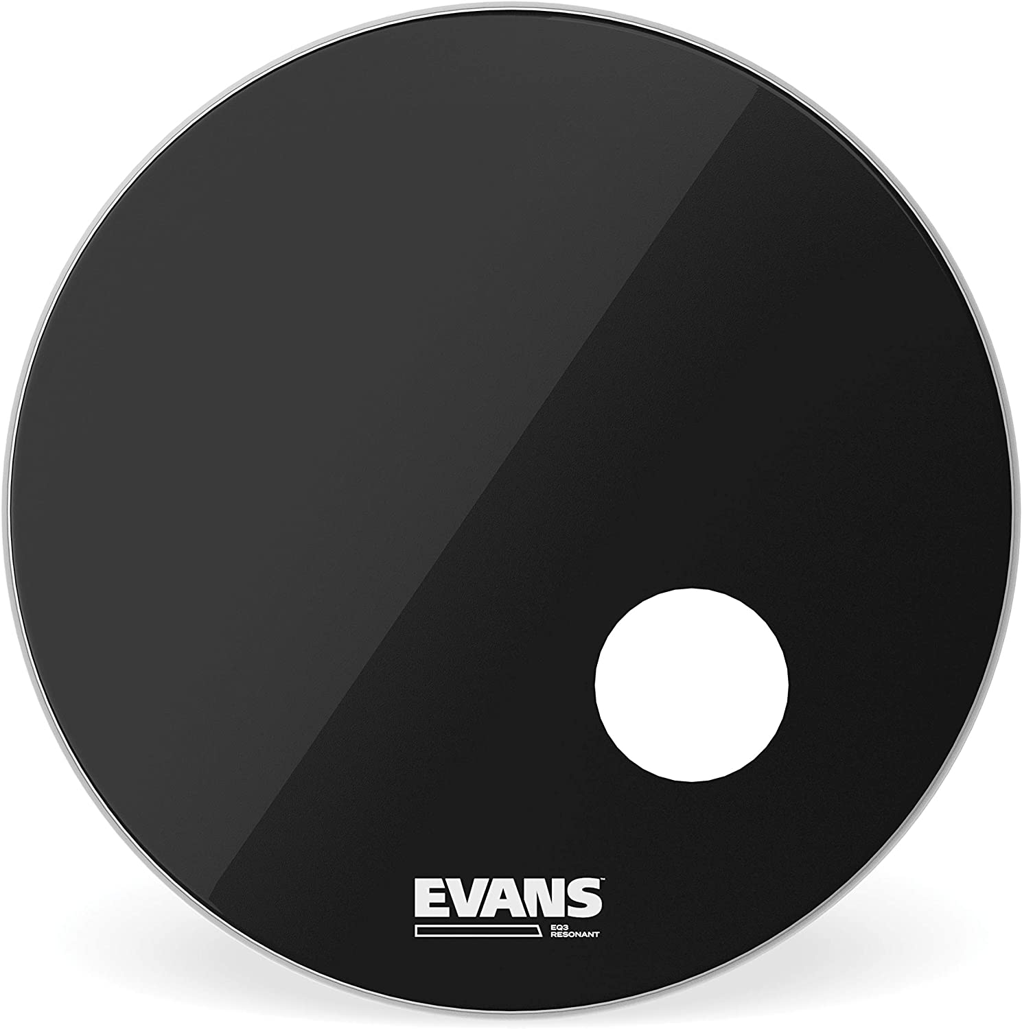 "Evans 20/"" EQ3 Resonant Black Bass Drum Head"