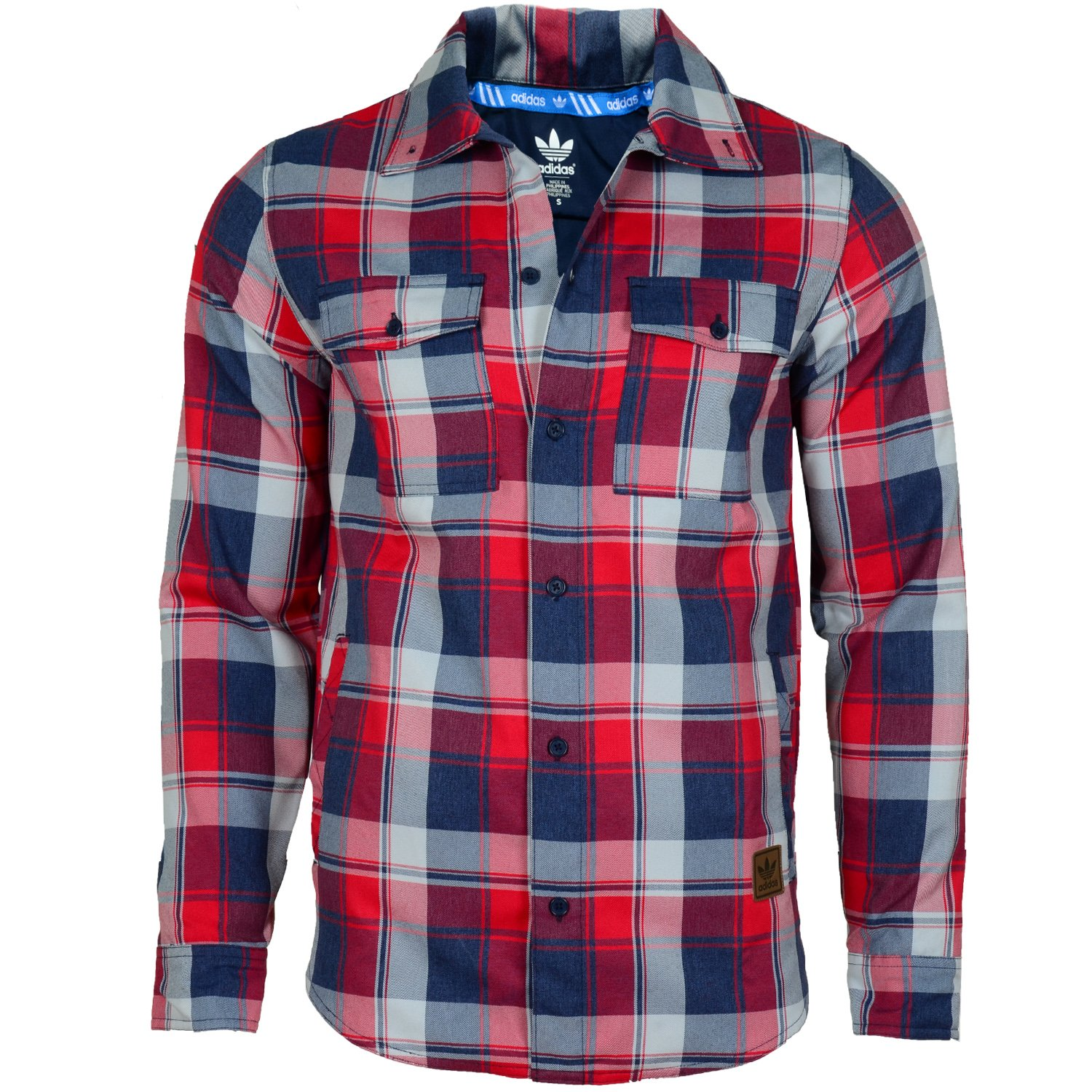adidas Originals Men's Snow DWR Long Sleeve Flannel Check Shirt