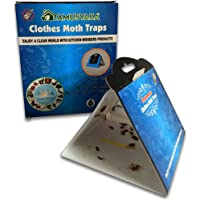 Clothes Moth Traps (6 Count) Moth Repellent with Pheromones Lure| Sticky Glue Traps for Bugs, Moth Killer for Carpet…