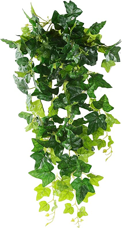 Artificial Hanging Plants 1 PACK AUERVO Artificial Potted Plant Fake Ivy Vine Fake Ivy Leaves