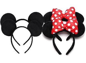 Zicome unidades de 8 con 4 tipos - Mickey ratón orejas Solid ...