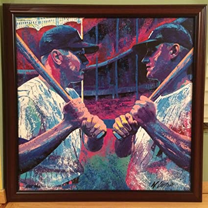 Mickey Mantle and Roger Maris by Bill Lopa Hand Embellished