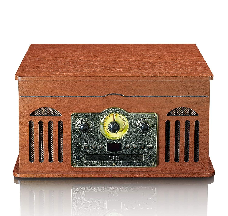 Tocadiscos LENCO TCD-2600WD Color Madera PC Encoding, Radio, Laser ...