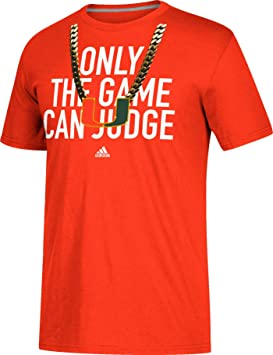 Adidas Miami Hurricanes - Camiseta de fútbol para Hombre, Color Naranja, Large, Anaranjado