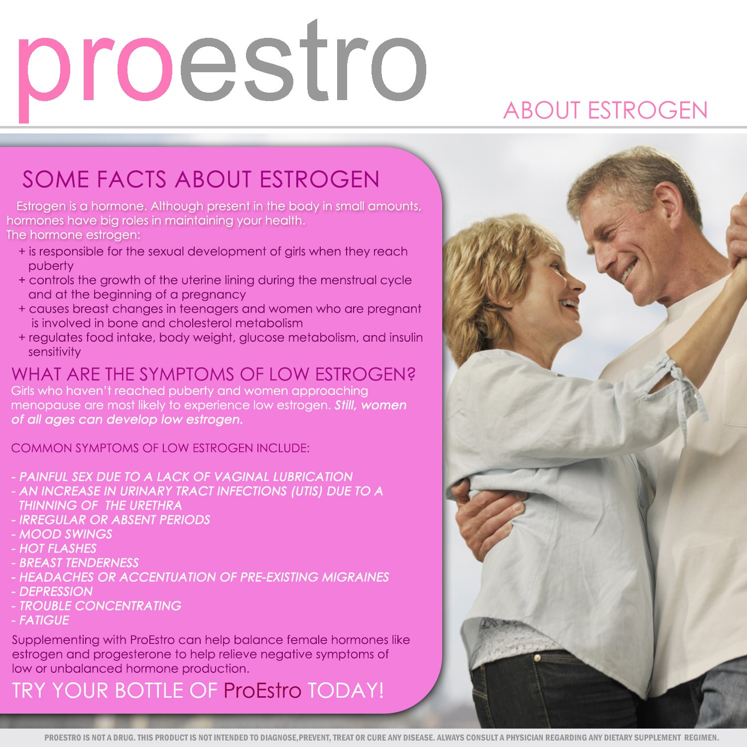 Products containing estrogen - a hormone of female youth