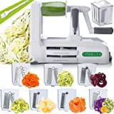 Spiralizer 5-Blade Vegetable Slicer, Strongest-and-Heaviest Duty, Best Veggie Pasta & Spaghetti Maker for Low Carb/Paleo…