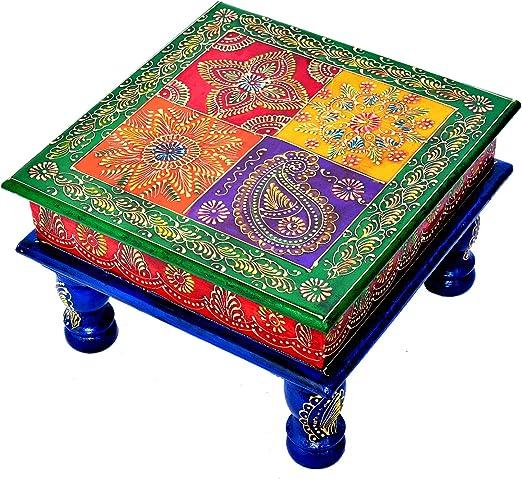 Jaipur handicrafts hub - Taburete de Madera Hecho a Mano para Rezar a Diario: Amazon.es: Hogar