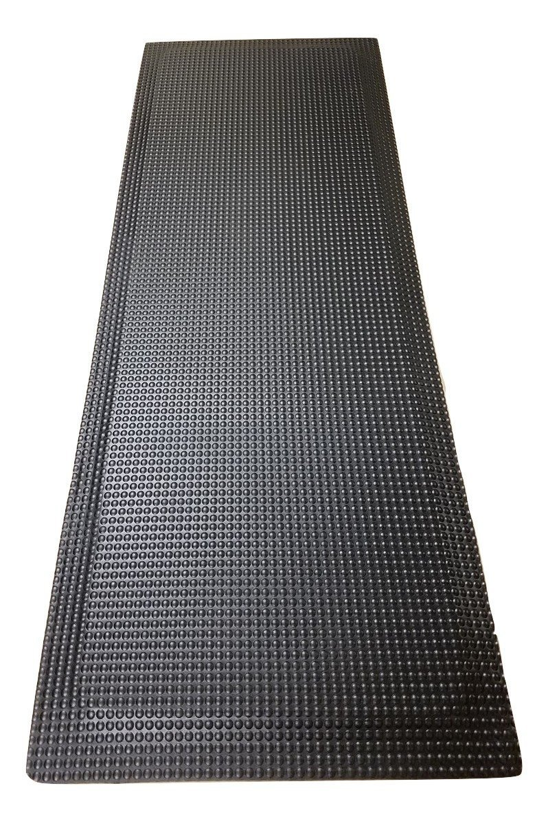 Rhino Mats RFLX2496DSIB Reflex Anti Fatigue Mat, 2' Width x 8' Length x 1'' Thickness, Industrial Black