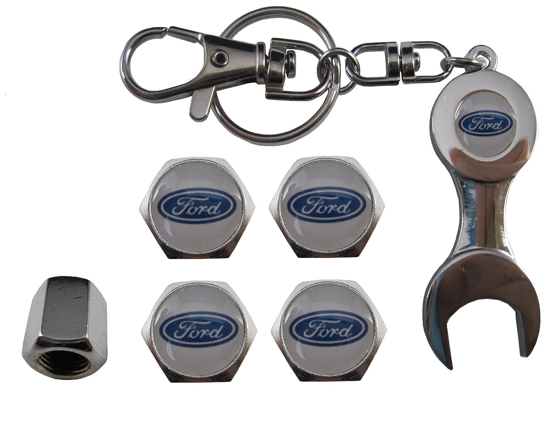 Valvulas de acero inoxidable para coche llavero apreta tuercas Ford aut011-38