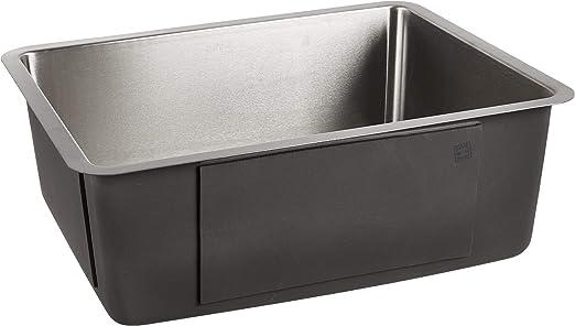 """ZUHNE 16G Offset Drain Stainless Steel Kitchen Sink Fits 27"""" Cabinet (24 x  19 Inch Single Under Mount)"""