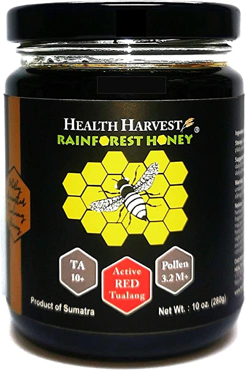 Miel Roja Tualang 280g   Actividad total 10+   Recuento de polen 3,2 M +   Variedades de polen 100+   Elección moderada para el mantenimiento de la ...