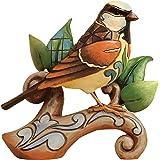 Enesco Heartwood Creek - Figurilla de gorrión, de resina, altura de 12 cm, multicolor