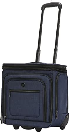 "Travelers Club Luggage 16"" Top Expandable Rolling Underseater W/USB Port"