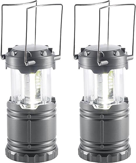 Set de 2 Plata Clase energ/ética A+ l/ámpara 360 Grados con Pilas Ultrasport Camping LED