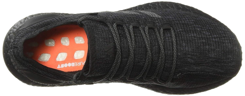 adidas Mens Pure Boost core Black/Solid Grey/hi-res Orange CM8304