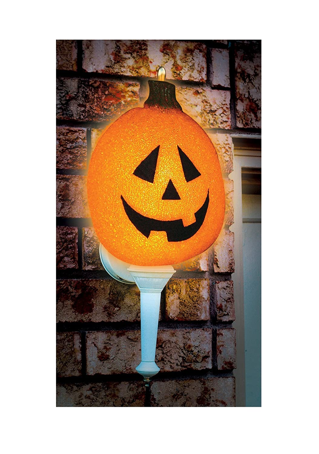 Amazon.com: Seasons Sparkling Pumpkin Porch Light Cover Novelty ...