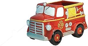 Accents & Occasions Ceramic Fire Truck Planter or Flower Arrangement Vase, 3-Inch