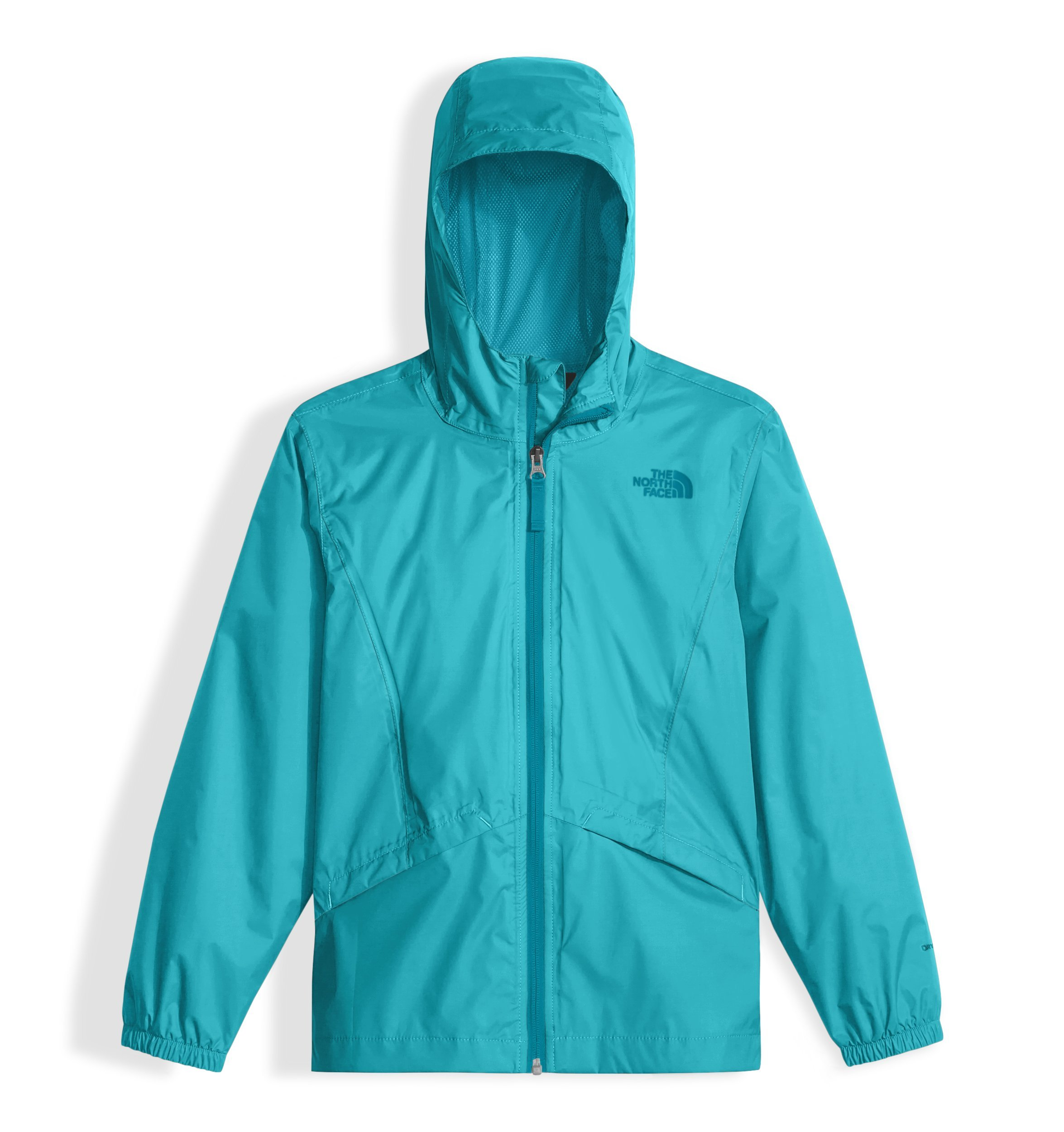 The North Face Girl's Zipline Rain Jacket - Blue Curacao - L