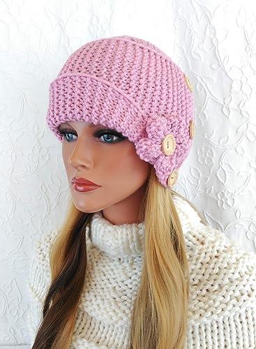 Gorro de lana para mujer. Hecho en España. Tejido a mano: Amazon.es: Handmade