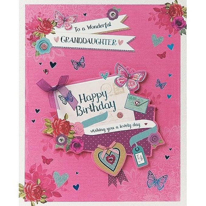 Greeting Card Granddaughter Beautiful Cupcakes JJ9074 - Birthday