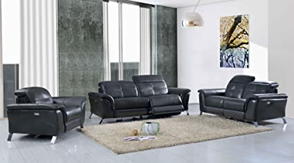 Amazon.com: 2619 Leather w/ Recliners Sofa Collection (Sofa With 2 ...