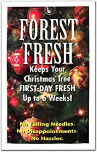 Forest Fresh Christmas Tree Preservative - Keeps Your Tree Fresh The Entire Holiday Season - 1 Packet (8 Tablets)