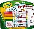 Crayola - Dry erase, 6 rotuladores lavables para pizarra blanca (98-5807)