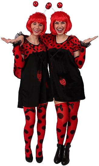 schön Design neueste trends heiß-verkauf echt KARNEVALS-GIGANT Marienkäfer Kostüm in schwarz-rot für Damen ...