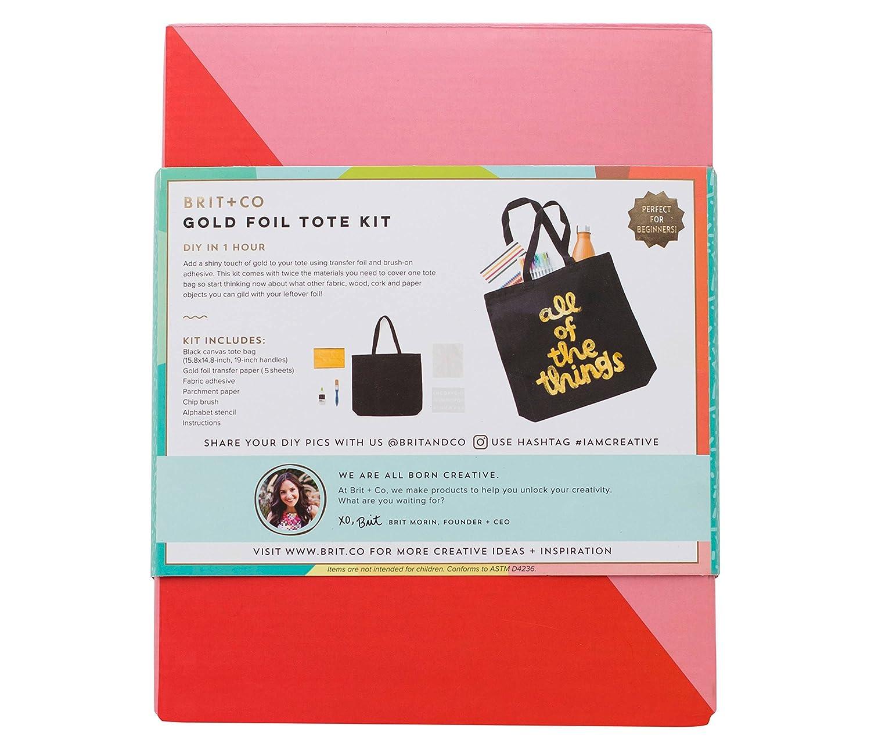 Amazon Brit Co Gold Foil Tote Kit Clothing