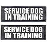Service Dog in Training Patches, Hook Patches for Service Dog Vest - Service Dog, Emotional Support, in Training, Service Dog in Training, Therapy Dog in Training Patch