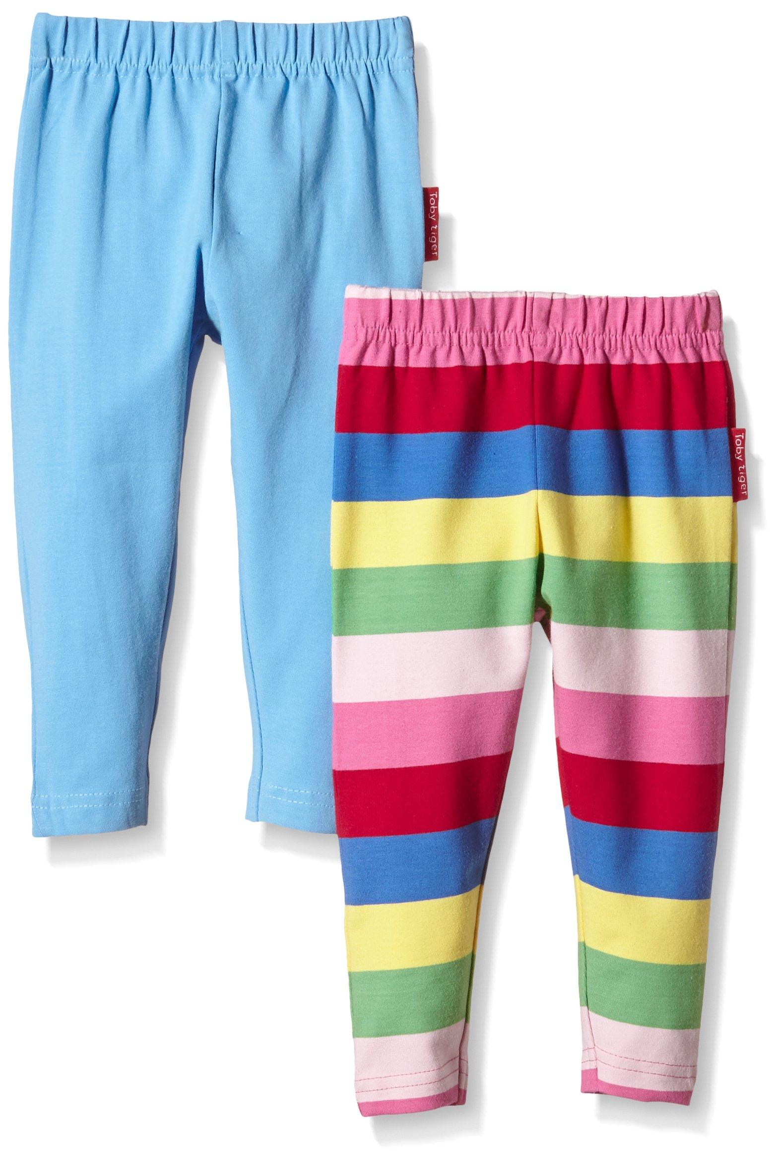 Toby Tiger Girly Stripe Leggings 2 Pack (1-2 Years)