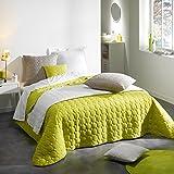 Douceur d'Intérieur Couvre-Lit Mat Microfibre/Polyester Uni Candy Vert 220 x 240 x 240 cm