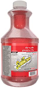Sqwincher Liquid Concentrate, Fruit Punch, 64 fl oz (Pack of 6)