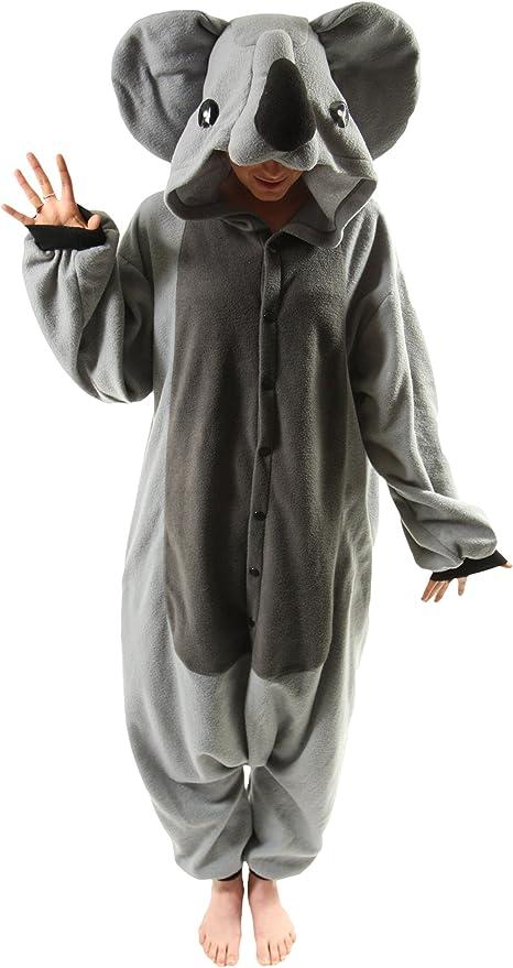 Koala - Todo en un disfraz para adultos - Onesie Kigurumi: Amazon ...
