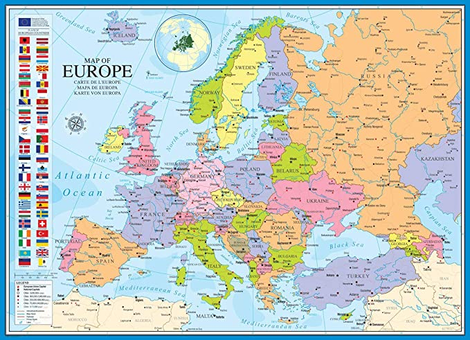 Buffalo Carte Europe.Eurographics Map Of Europe Puzzle 1000 Piece