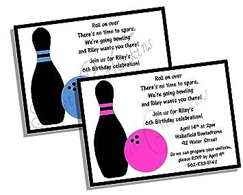 amazon com bowling invitation set of 20 bowling invites 5x7