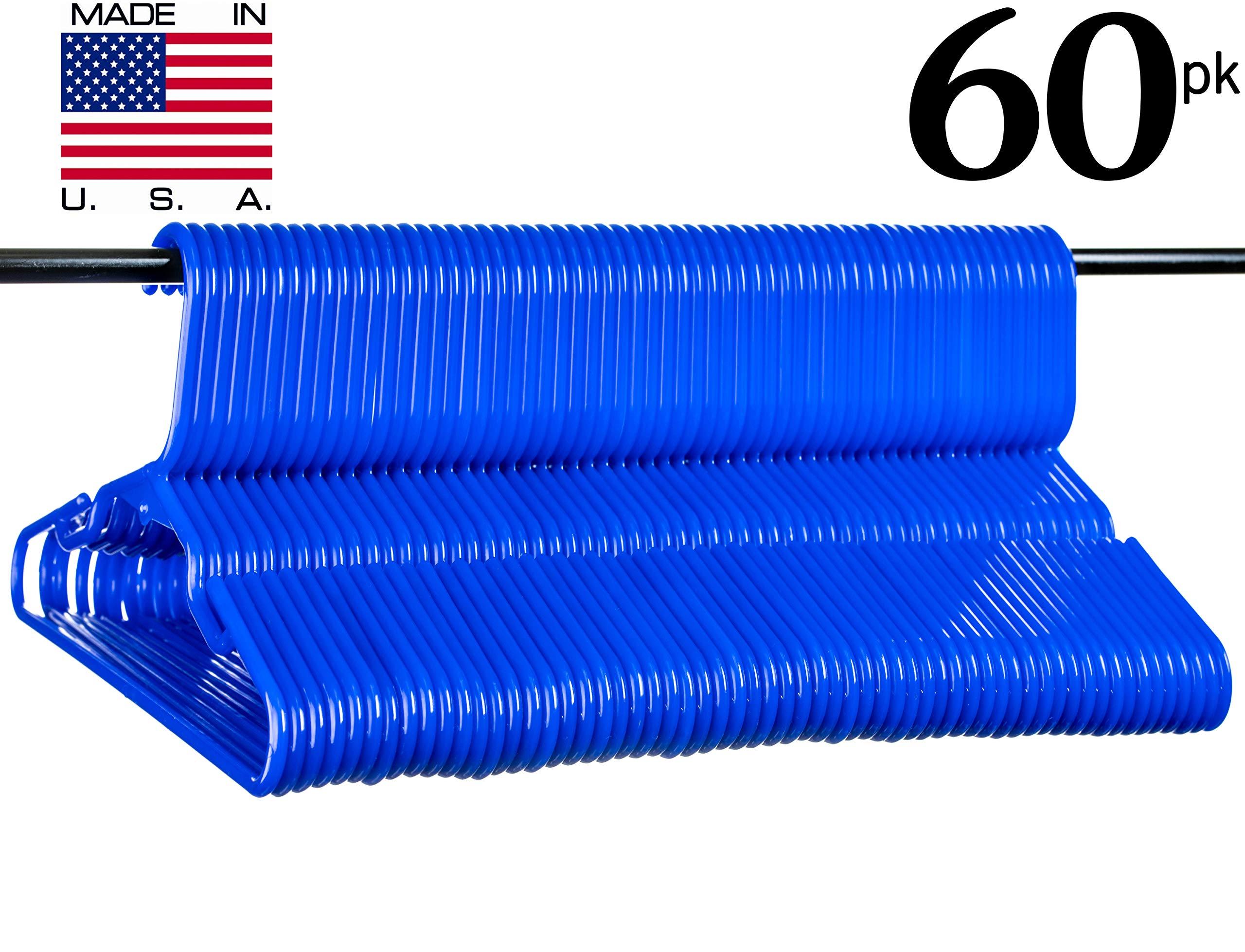 Neaties USA Made Children's Small Blue Plastic Hangers, 60pk