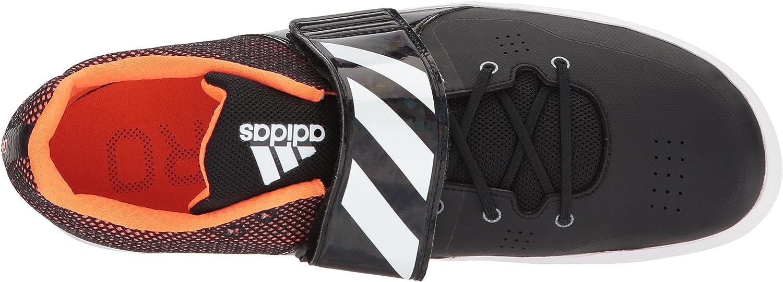Adidas Performance Adizero Discus Hammer Track Shoe Core Black Ftwr White Orange
