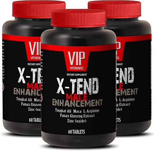 Pills for Men Bigger – X-TEND – Male Enhancement – Tribulus longjack – 3 Bottles 180 Tablets