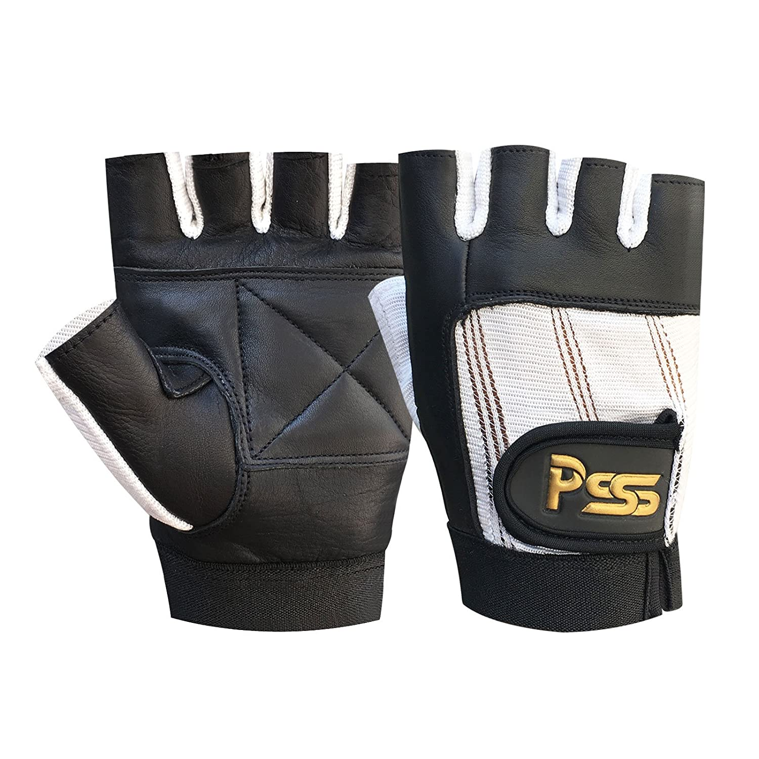 GYM WORK OUT CYCLING LEATHER BODY BUILDING TRAINING PADDED GLOVES