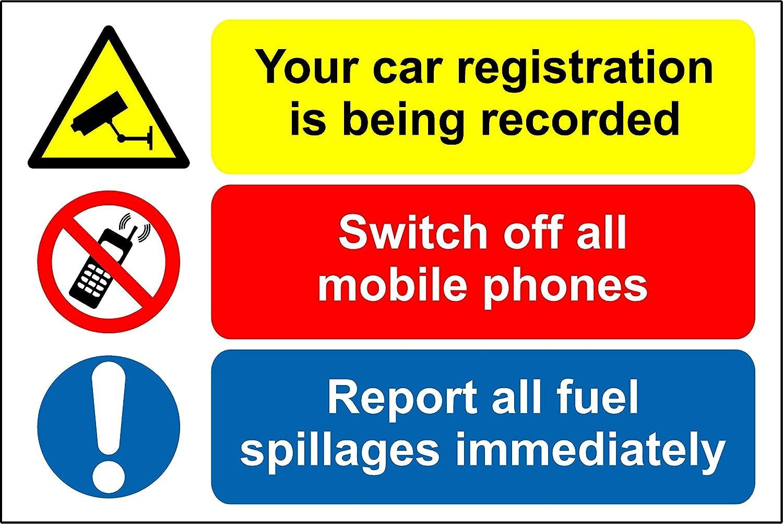 Cartel de seguridad de combustible Forecourt - su coche ...