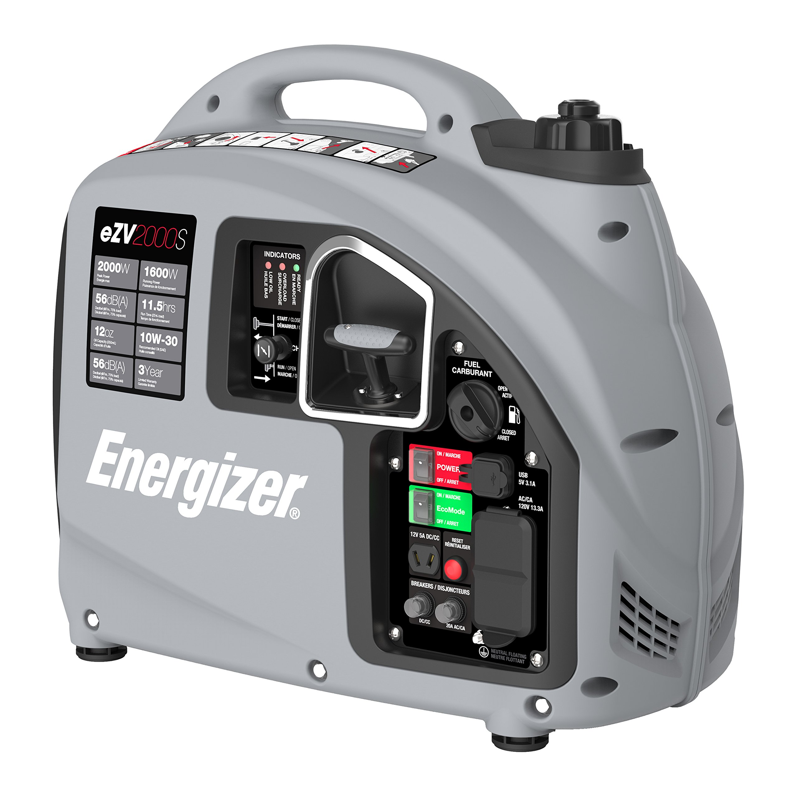 Energizer EZV2000P 2000W Gas Powered Portable Inverter