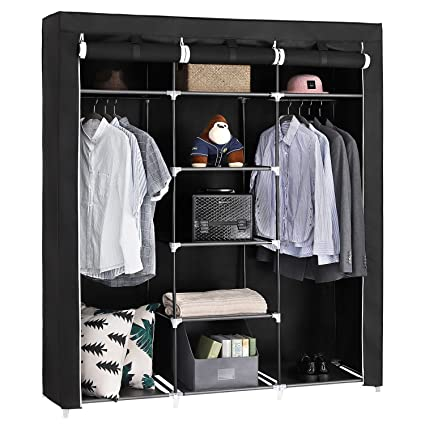 Absales Fancy And Portable Foldable Closet Wardrobe Cabinet Portable  Multipurpose Clothes Closet Portable Wardrobe Storage Organizer