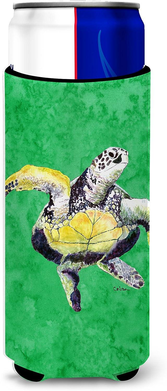 Caroline's Treasures 8671MUK Loggerhead Turtle Dancing Ultra Beverage Insulators for slim cans, Slim Can, multicolor