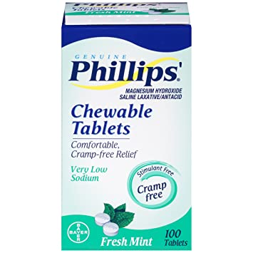 Phillips Chewable Tablets, Fresh Mint, 100 Tablets, ...