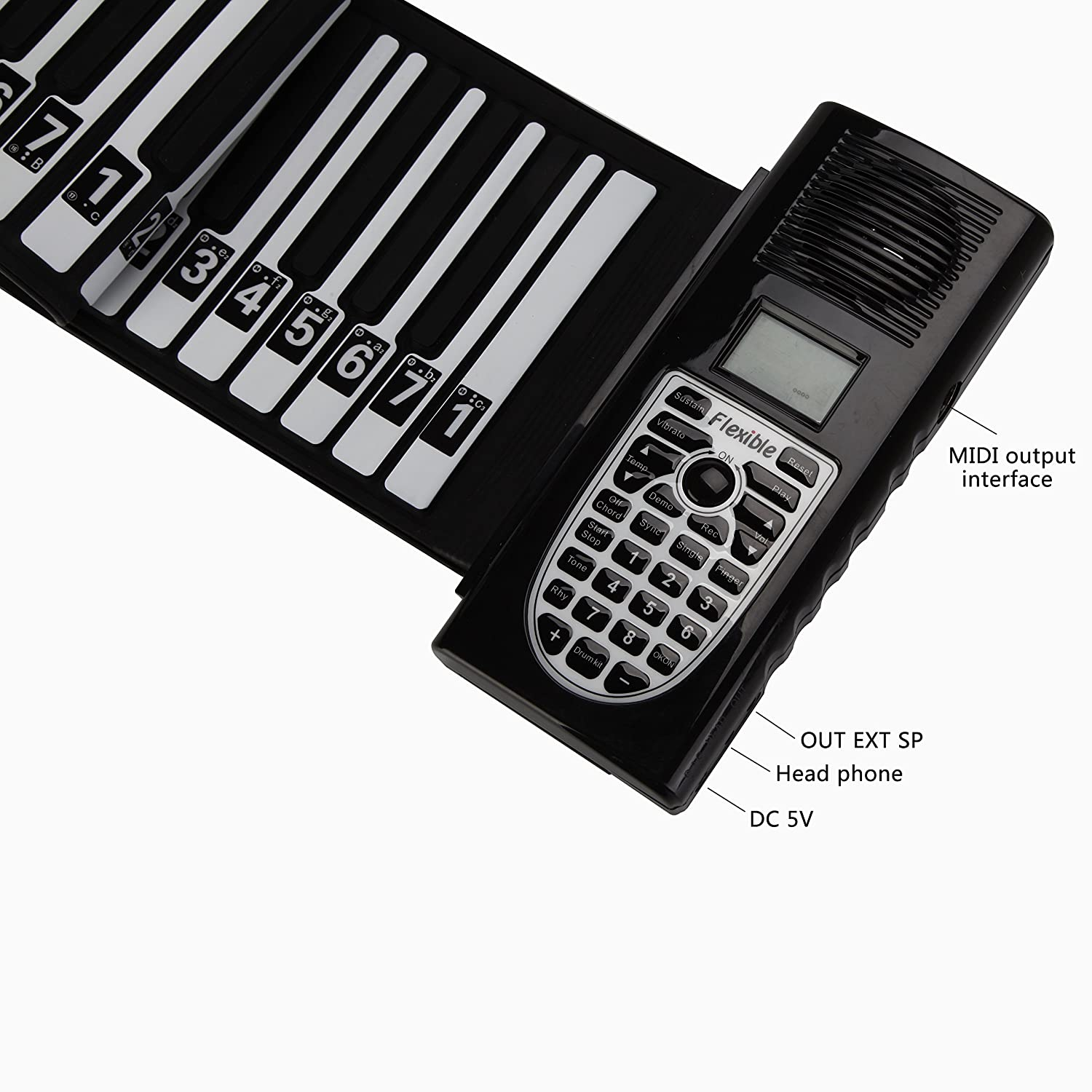 Amazon aufitker roll up piano completely portable 49 amazon aufitker roll up piano completely portable 49 standard keys with louder speakerprofessional silicon rubber battery or usb powered roll up baditri Choice Image