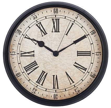 LENRUS - Reloj de Pared de 30,48 cm, Estilo Vintage, Redondo,