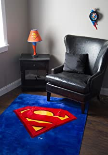 JP Imports Superman Shield Logo 4u0027 X 6u0027 Area Rug By JP Imports