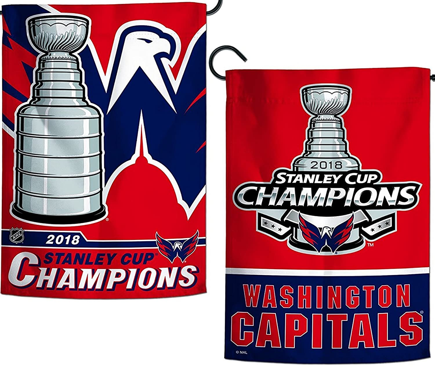 Amazon.com  Washington Capitals 2018 Champions GARDEN Flag Premium 2-sided  Banner Stanley Cup Hockey  Sports   Outdoors 9b6194d967d7